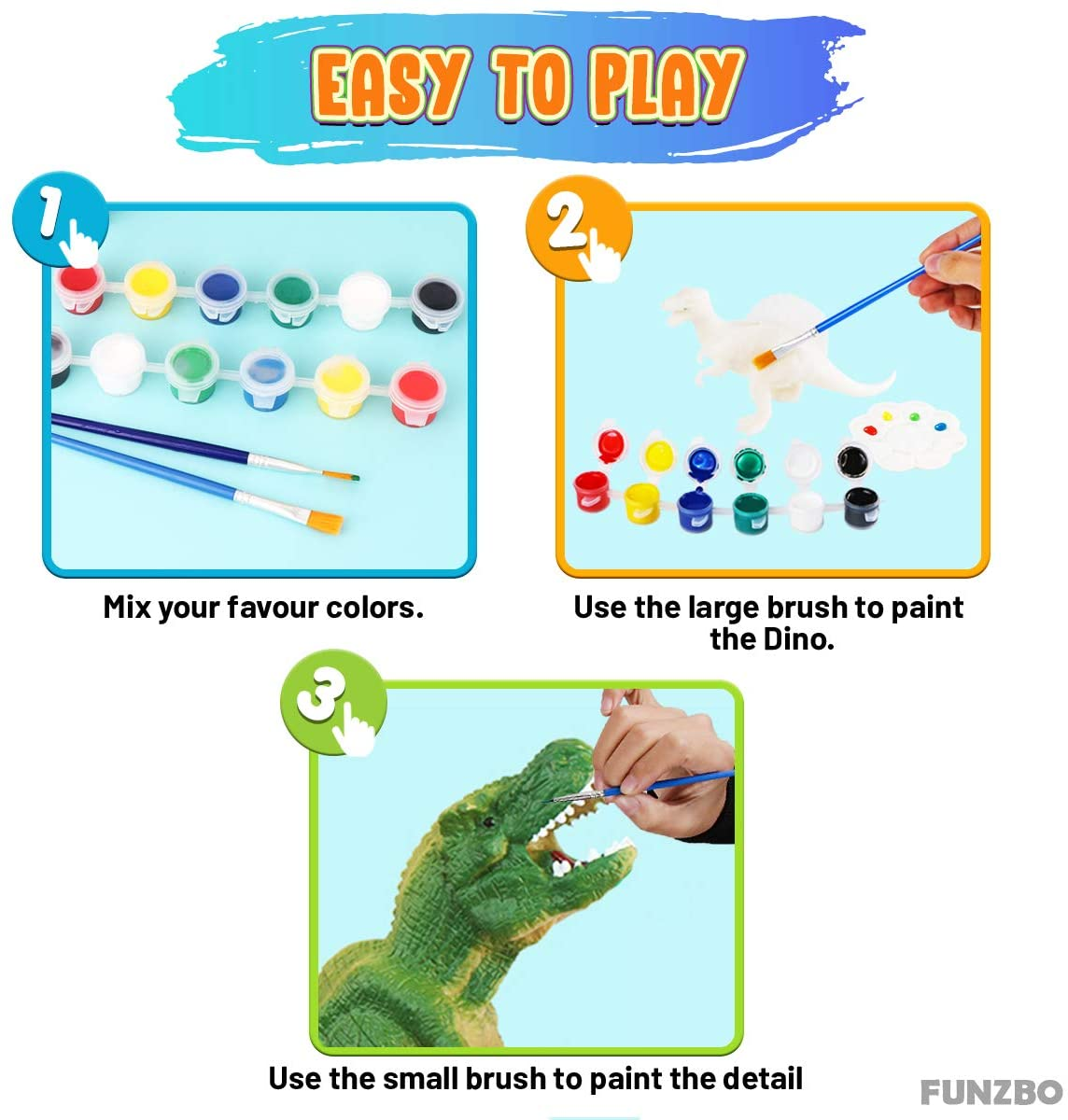 40pcs Dinosaurs Painting Kit Art Crafts Set for Kids,3D Dinosaur Toys Drawing Projects for Children Boys Girls Age 4 5 6 7 8 Years Old,with Triceratops T rex Set