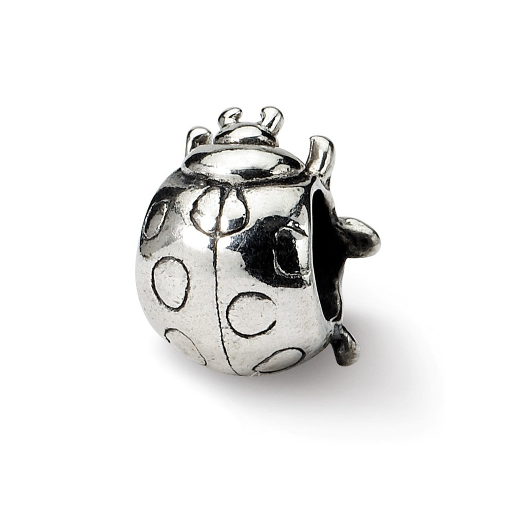 Roy Rose Jewelry Sterling Silver Reflection Beads Alarm Clock Bead