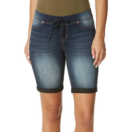 L.E.I. Juniors' Pull-On Denim Bermuda Shorts w/Drawstring ...