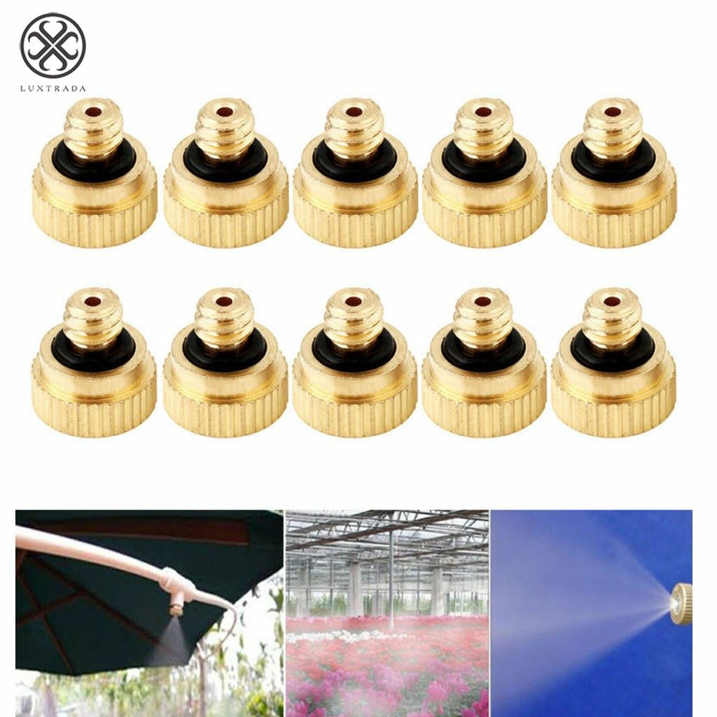 20pcs//set Brass Misting Nozzles Water Mister Sprinkle For Cooling System Good US