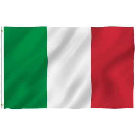 ANLEY [Fly Breeze] 3x5 Feet Italian Flag - Vivid Color and UV Fade Resistant - Canvas Header and Brass Grommets - Italy IT Banner Flags (Italian Flag Outline)