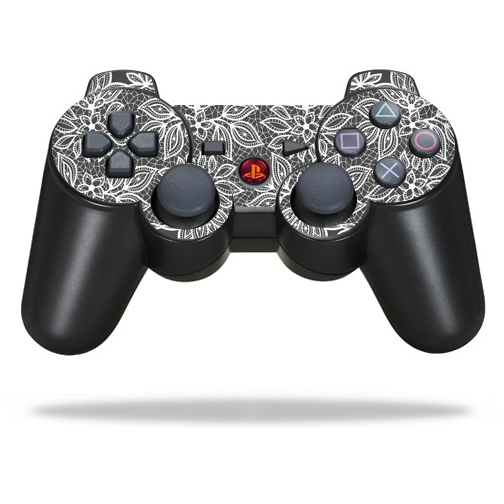 Skin Decal Wrap for Sony PlayStation 3 PS3 Controller sticker Floral Lace