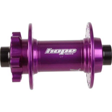 Hope Tech Pro4 Disc Front Hub; 15X110Mm Boost 32H - Purple - FHP432PU11