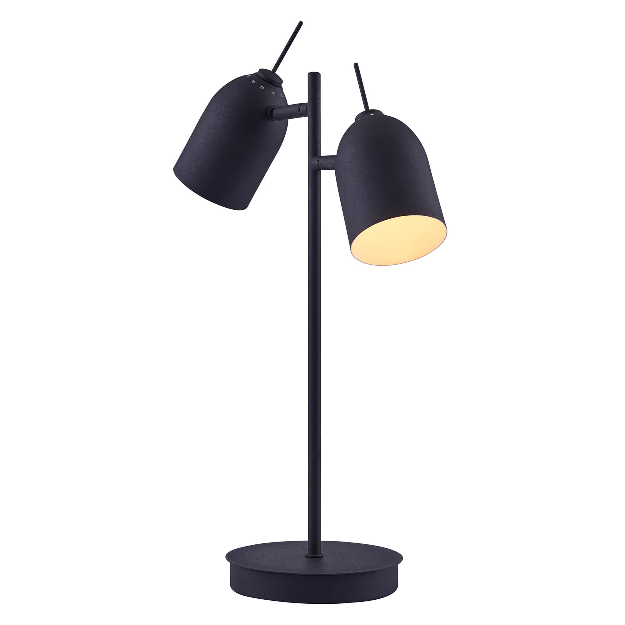 Versanora - Mason Table Lamp With Black Finish Shade