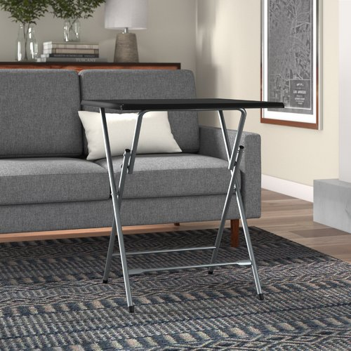 Symple Stuff Palisades Oversized Metal Folding Tray Table