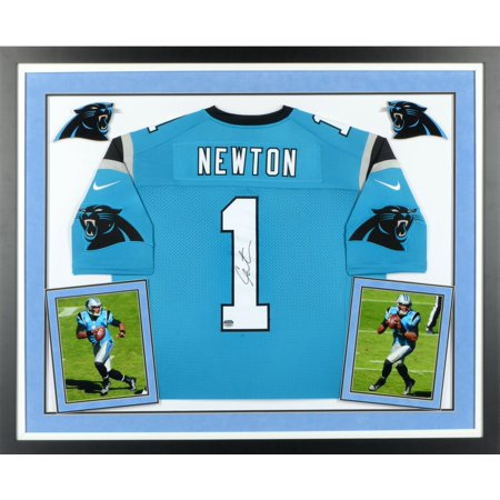 detailed pictures f11e7 2e851 Cam Newton Carolina Panthers Deluxe Framed Autographed Limited Blue Jersey  - Fanatics Authentic Certified