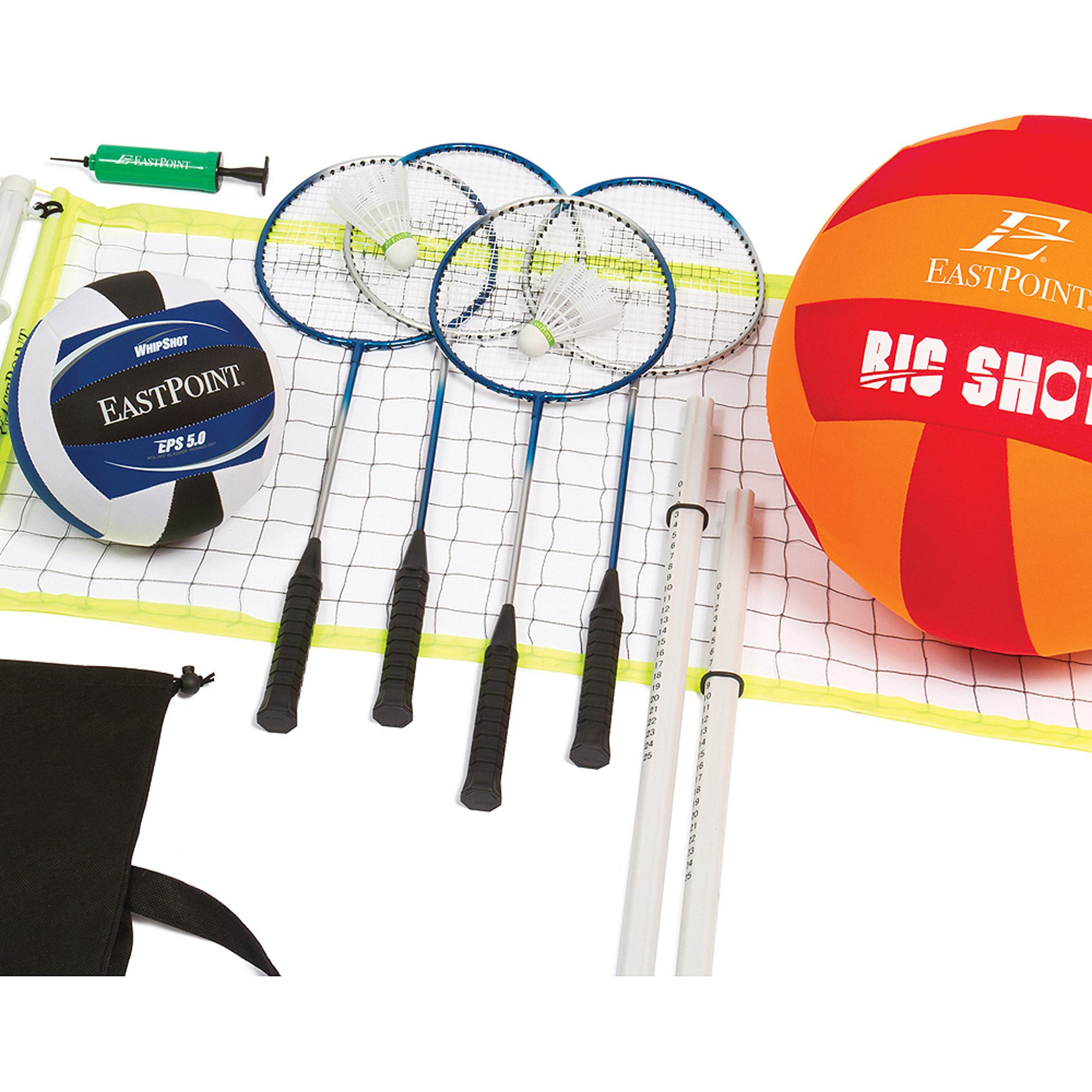 EastPoint Sports Volleyball and Badminton Set