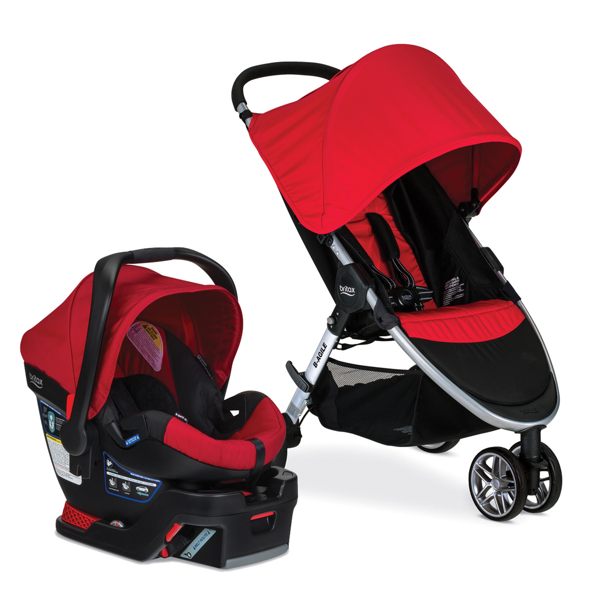 Britax 2017 B Agile & B Safe 35 Travel System, Red by Britax