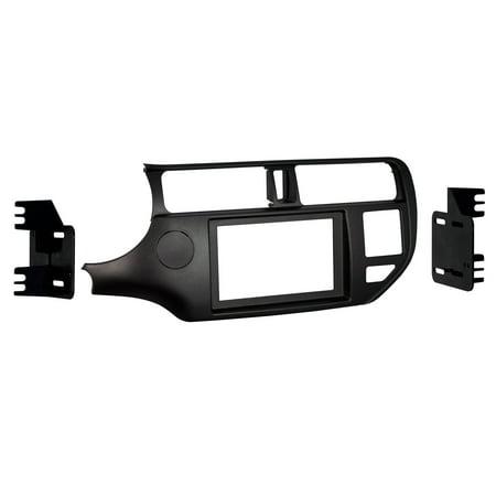 Din Black Dash Kit - Metra 95-7353CH Double DIN Dash Kit for Select 2012-Up Kia Rio Vehicles (Black)