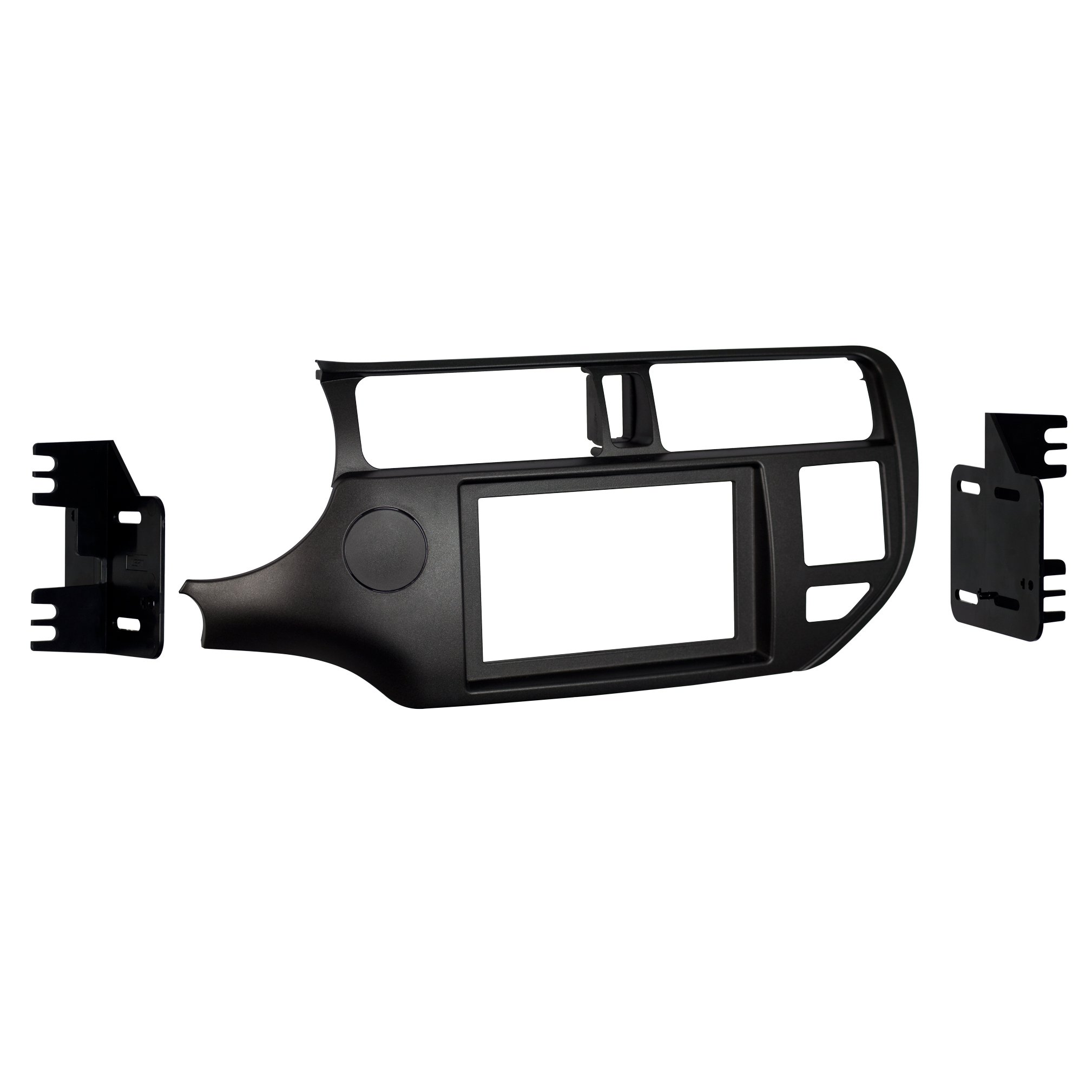 Metra 95-7353CH Double DIN Dash Kit for Select 2012-Up Kia Rio Vehicles (Black)