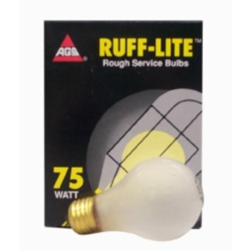 Ags Products RS-75 Bulb, Rough Service, 75 Watt, 24 Pack