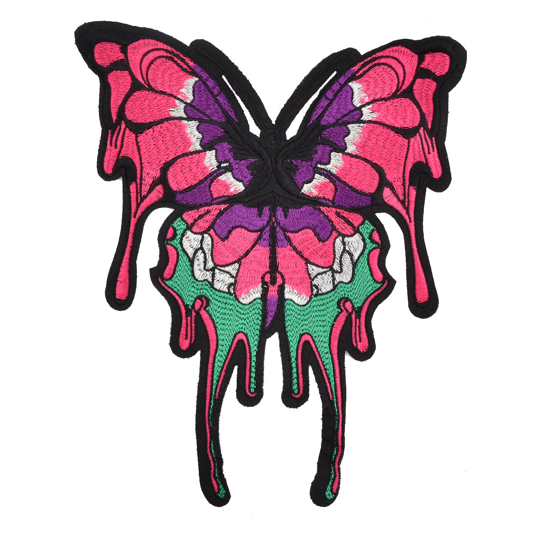 Unique Bargains Household Polyester Butterfly Design DIY Sewing Clothes Decor Lace Applique Red