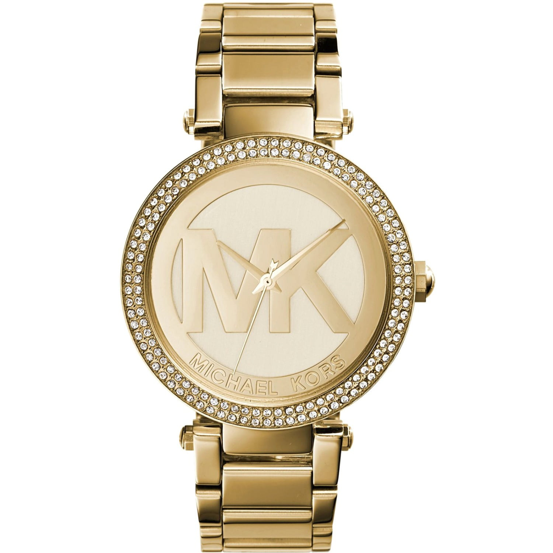 Michael Kors Michael Kors Women's Parker Logo Gold Tone Watch MK5784