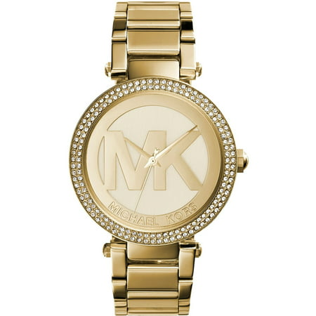 Michael Kors Women's Parker Logo Gold-Tone Watch MK5784 Bracelet Women Wrist Watch
