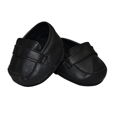 Black Dress Shoes For Teddy Bear Clothes Fit 14 inch to 18 inch Build-a-bear and Make Your Own Stuffed Animals