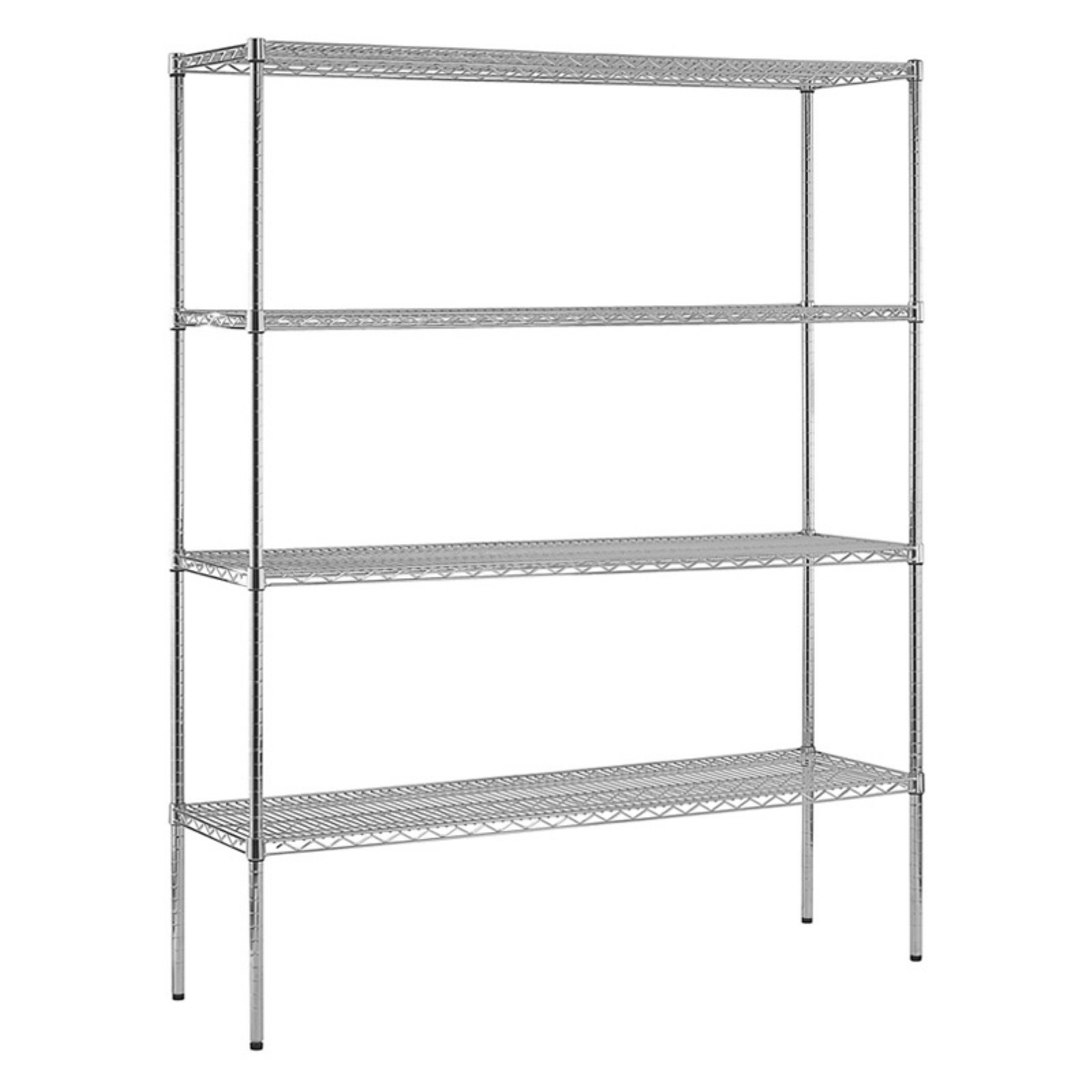 Sandusky 4-Level Wire Shelving, Chrome - Walmart.com