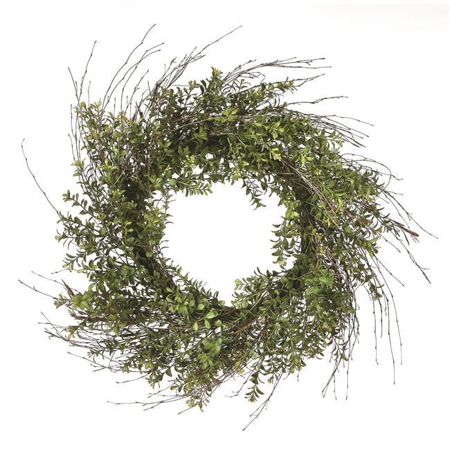 Regency International MTF19211-MSGR 24 in. Plastic Twig Boxwood Wreath - Moss Green - image 1 de 1