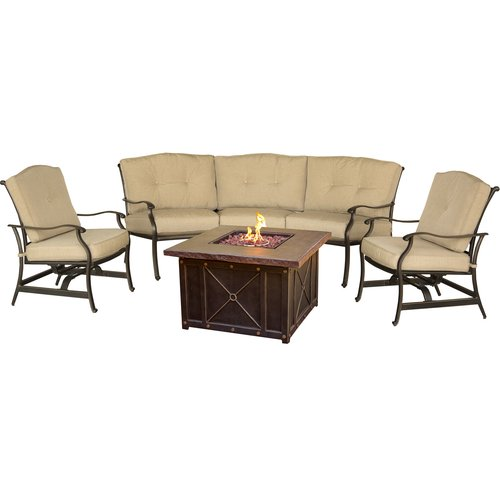 Fleur De Lis Living Carleton 4 Piece Sofa Set with Cushions