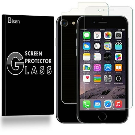"""iPhone 8 / iPhone 7 (4.7"""") [BISEN] Tempered Glass FULL BODY [Front + Rear] Screen Protector, Anti-Scratch, Anti-Shock, Shatterproof, Bubble Free - Walmart. ..."""