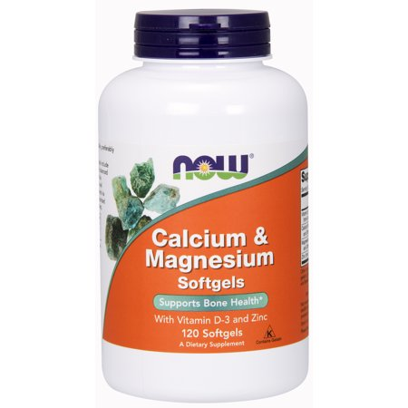 NOW Supplements, Calcium & Magnesium, 120 Softgels ()