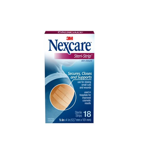 Nexcare Steri-Strip Skin Closure, 1/2 in x 4 in, 18 Strips