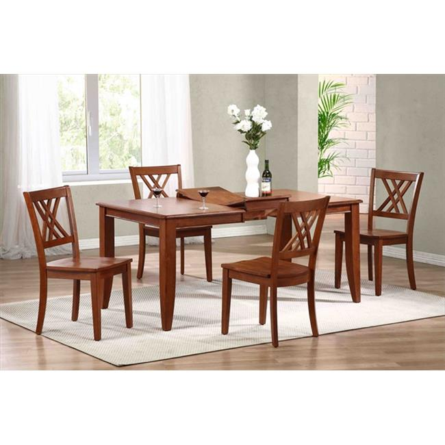Iconic Furniture Rectangle Dining Table, Contemporary Leg In Cinnamon
