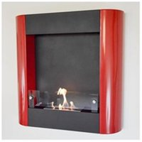Nu-Flame Focolare Rosso Wall Mounted Ethanol Fireplace, Red