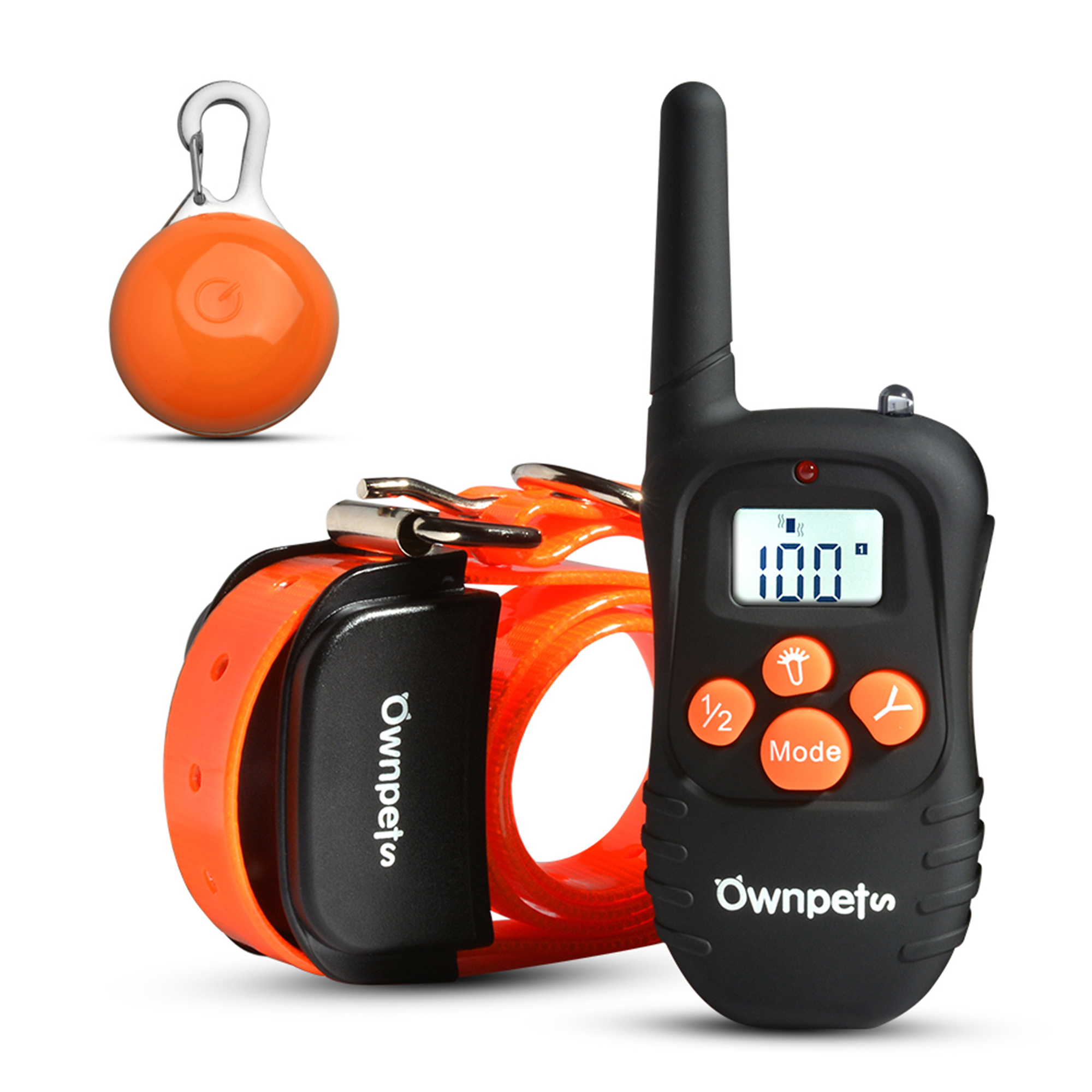 Ownpets 330 Yard 100levels Rechargeable Waterproof LCD Shock Vibra Remote Pet Dog Training Collar