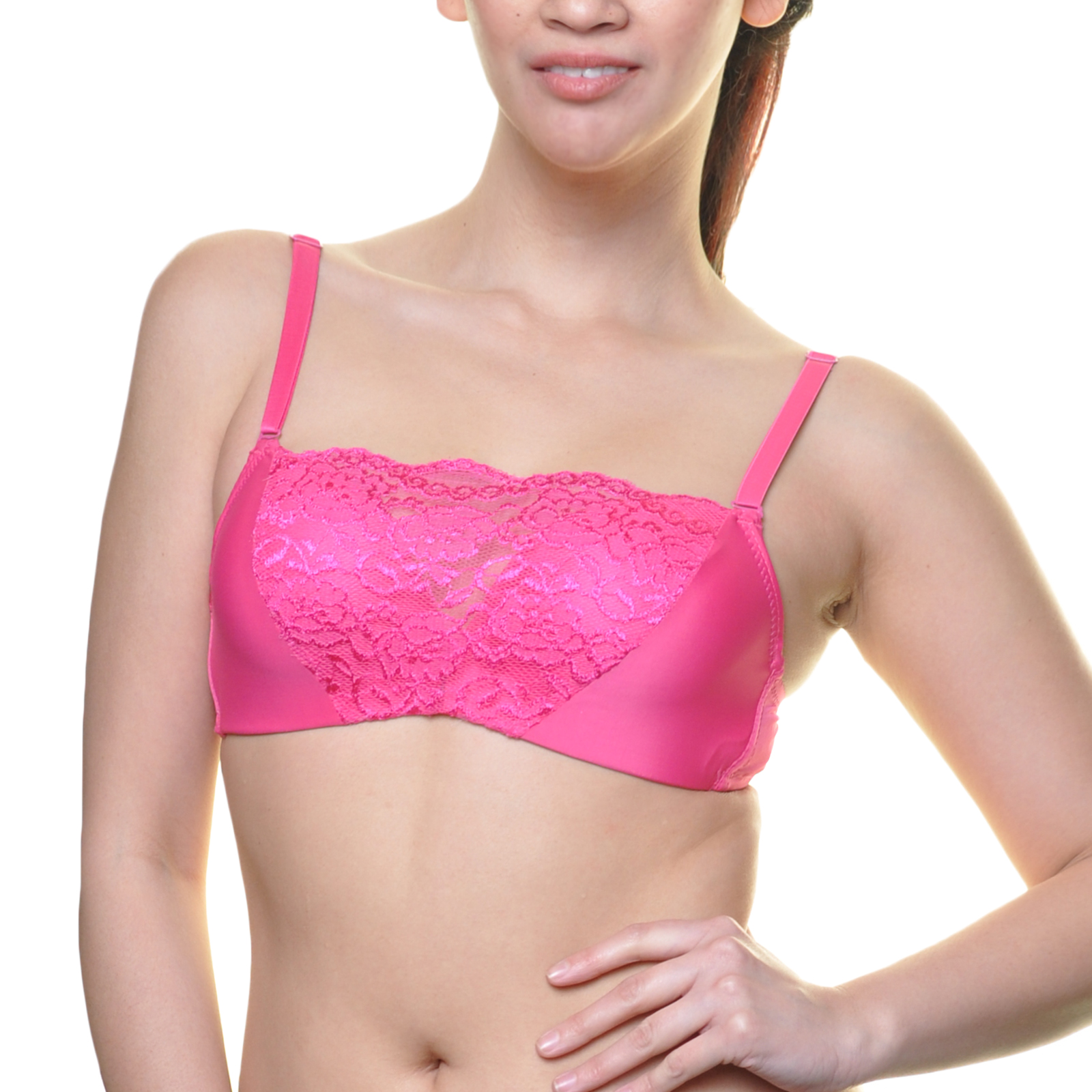Angelina 6-Pack Bandeau Style Modesty Bras with Convertible Straps