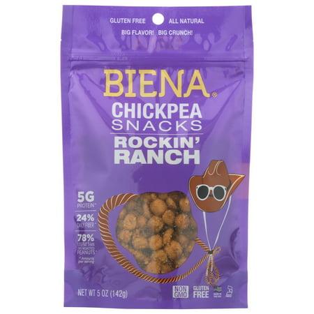Biena Rockin' Ranch Chickpea Snacks, 5 Oz.