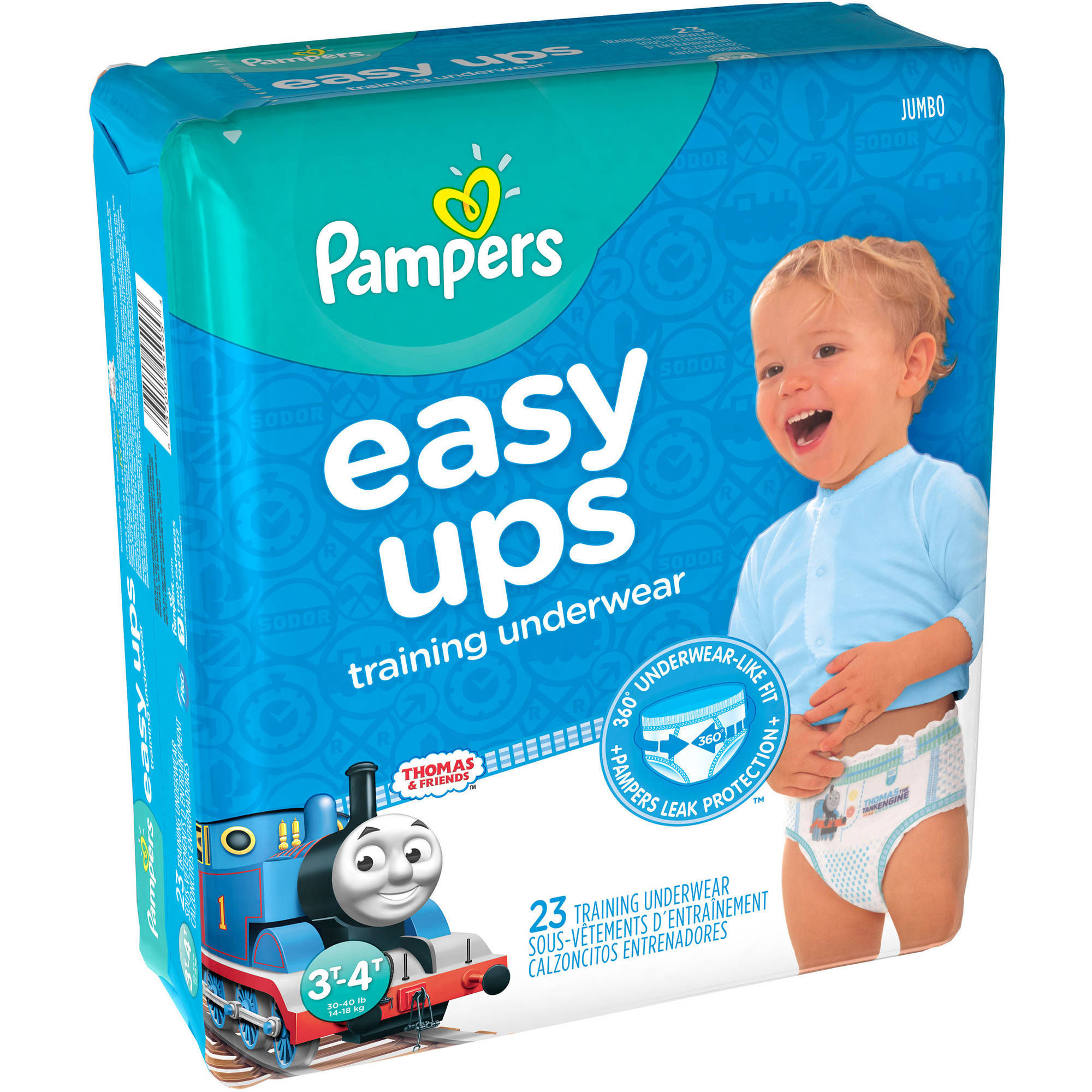 Pampers Easy Ups Boys Training Pants, Size 3T-4T, 23 Pants