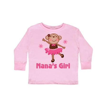 Nana's Girl monkey Toddler Long Sleeve T-Shirt - Long Armed Monkey