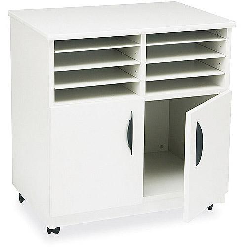 Safco Laminate Machine Stand w/Sorter Compartments, 28-1/8 x 19-3/4 x 30-1/2