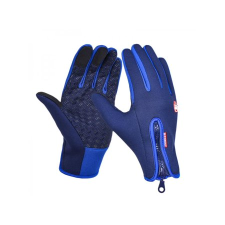 VICOODA Cycling Gloves Cool, Waterproof Touchscreen Hunting Climbing Sport Anti-slip Glove, Full Finger Gloves with Zipper for Unisex Men and Women