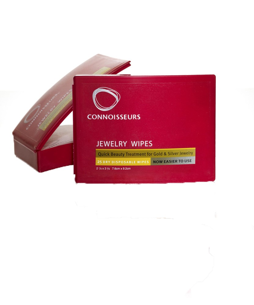 Connoisseurs Jewelry Wipes Compact