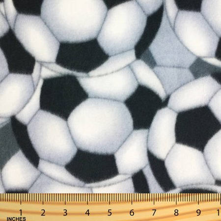 SHASON TEXTILE (2 Yards cut) POLAR FLEECE FABRIC 100% POLYESTER ANTI-PILL, New Soccer Ball, Available in Multiple Colors](Soccer Ball Fabric)