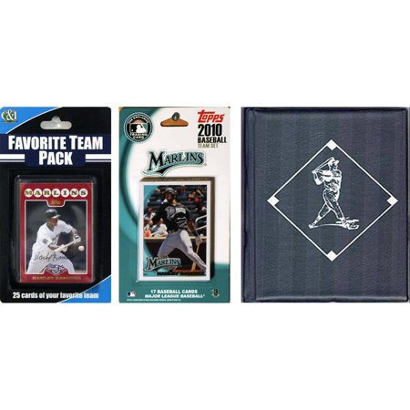 C&I Collectables MLB Florida Marlins Licensed 2010 Topps Team Set and Favorite Player Trading Cards Plus Storage (Florida Mall Sports Stores)