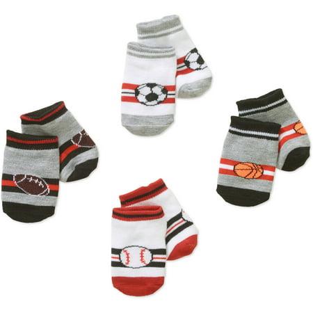 6d2dcfeded0c Newborn Baby Boy Assorted Sports Socks Set - 4 Pack - Walmart.com
