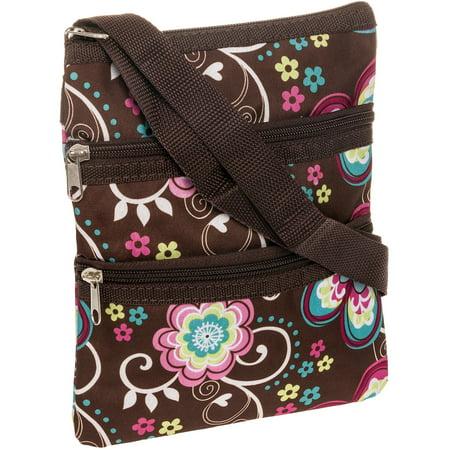 NEW Women Brown Daisy Crossbody Messenger Swingpack Handbag Satchel Shoulder