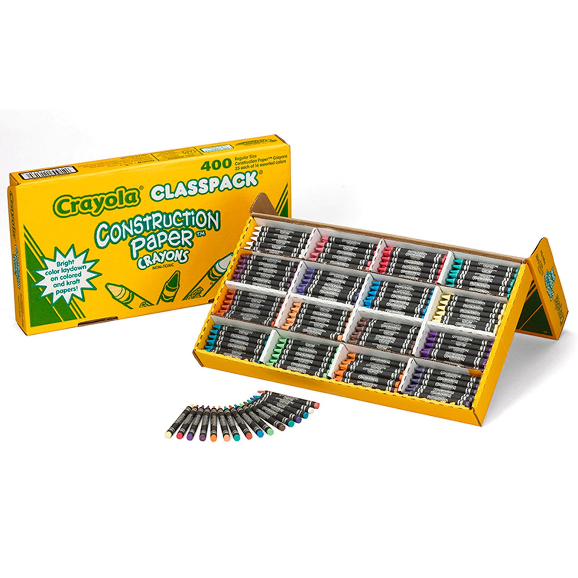Crayola® Construction Paper Crayons Classpack