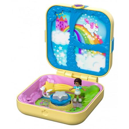 Polly Pocket Hidden Hideouts Unicorn Utopia with 3 Hidden Surprises - Unicorn Toys