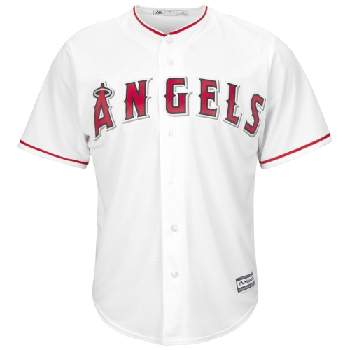 Youth Majestic White Los Angeles Angels Official Cool Base Jersey