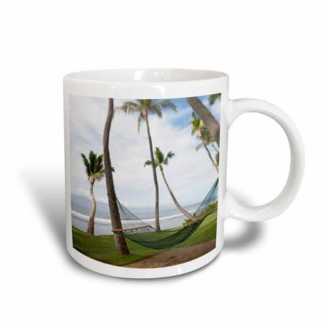 3dRose Hammock under Hawaiian palm trees, Maui, Hawaii - US10 JGS0039 - Jim Goldstein, Ceramic Mug, 11-ounce