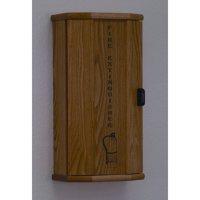 Wooden Mallet Fire Extinguisher Cabinet with Engraved Door Panel