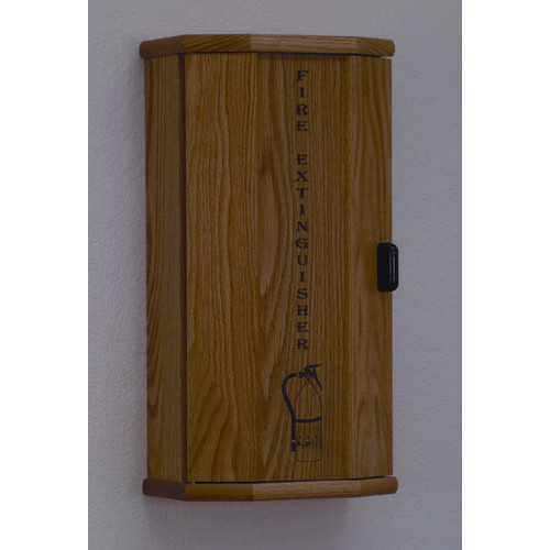 Wooden Mallet Fire Extinguisher Cabinet with Engraved Door Panel