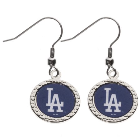 Los Angeles Dodgers Wincraft Women S Round Dangle Earrings Royal No Size