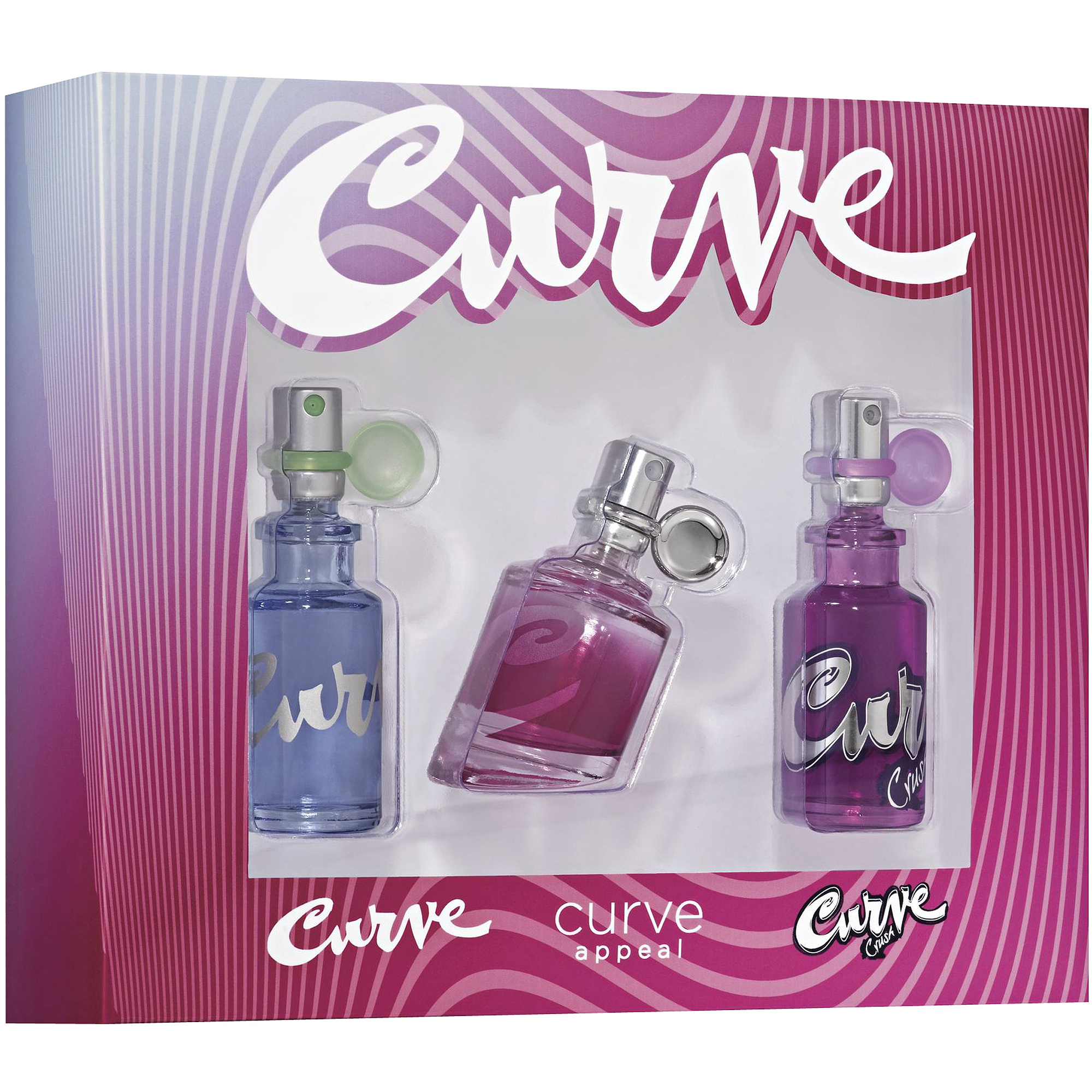 Curve/Curve Crush/Curve Appeal Fragrance Gift Set, 3 pc