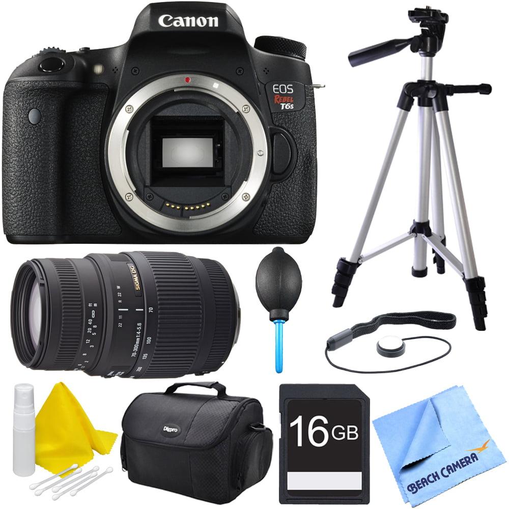 Canon EOS Rebel T6s DSLR Camera w/ 70-300mm Telephoto Len...