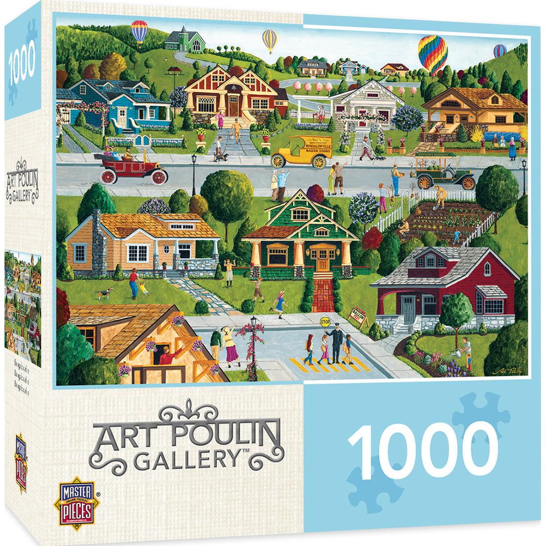 Hometown Gallery Bungalowville 1000 Piece Jigsaw Puzzle