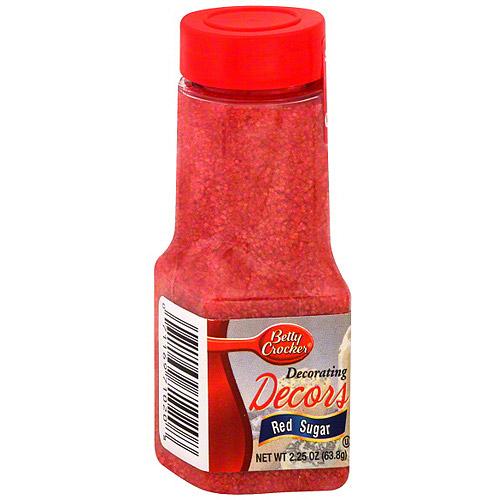 Betty Crocker Red Sugar, 2.25 oz (Pack of 6)